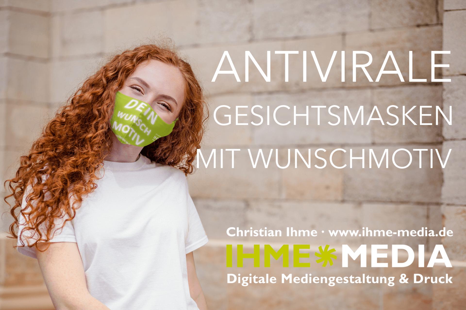 Junge Frau mit antiviraler Gesichtsmaske
